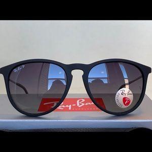 Ray Ban Erika Matte Black Polarized Sunglasses